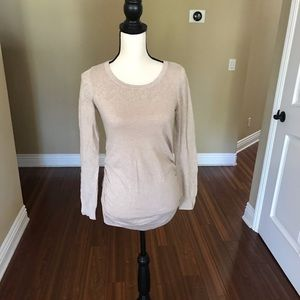 Motherhood Maternity Cream Sweater, Size S